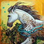 Animals art,acrylic painting,Freckled Horse
