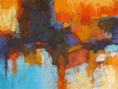 abstract art,expressionism art,pastel artwork,Radiant Vista