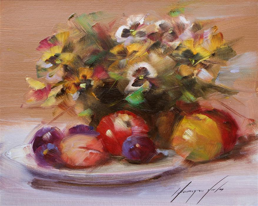 Original art for sale at UGallery.com | Autumn Still Life by VAHE YEREMYAN | $375 |  | 11' h x 14' w | ..\art\oil-painting-Autumn-Still-Life