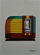 Pop art,Still Life art,oil painting,Old-Fashioned Radio