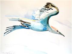 animals art,watercolor painting,Flight