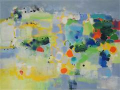 Abstract art,oil painting,Island