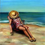 People art,Seascape art,oil painting,Bathing Beauty #1