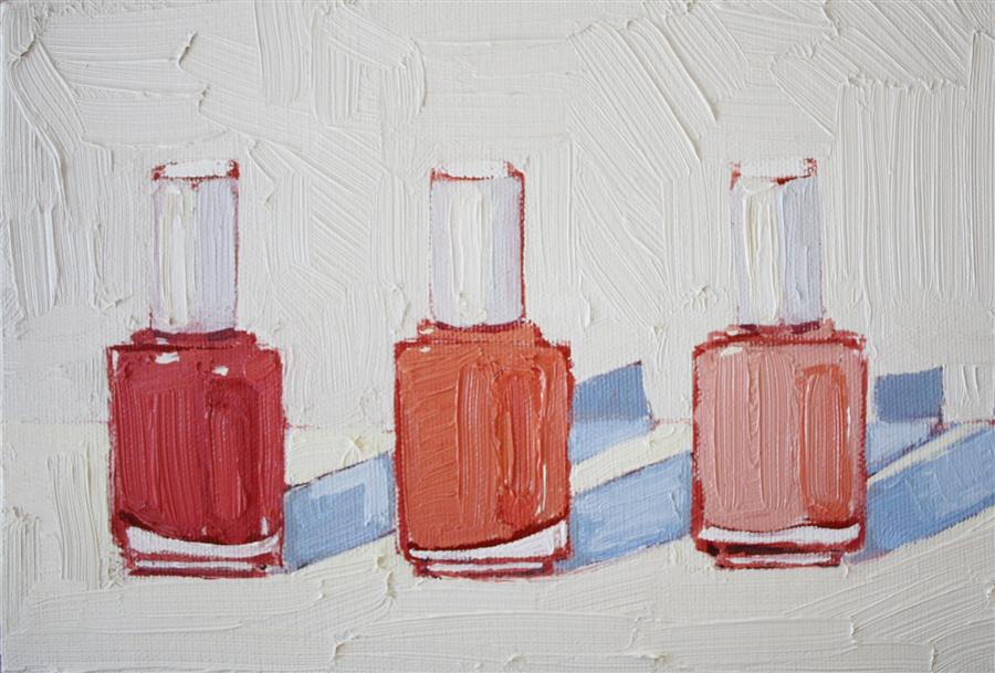 Original art for sale at UGallery.com | Essie, Coral No. 2 by Nicole Newsted | $400 | oil painting | 6' h x 9' w | http://www.ugallery.com/oil-painting-essie-coral-no-2