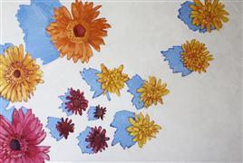 still life art,botanical art,oil painting,Fleeting Summer