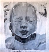 People art,acrylic painting,Last Giant Baby