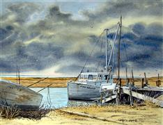 Seascape art,Vroom Vroom! art,watercolor painting,Before the Storm/Two Grand