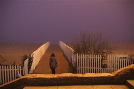 Landscape art,People art,photography,Fog in Mar del Plata