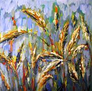 Nature art,Flora art,acrylic painting,Wheat Field