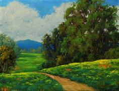 impressionism art,landscape art,oil painting,Path to Solitude