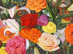 Nature art,Flora art,oil painting,Abundance IV