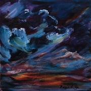 abstract art,landscape art,acrylic painting,Last Light