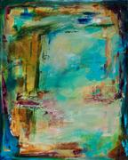 Abstract art,Expressionism art,acrylic painting,Portal #2