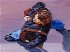 Impressionism art,People art,oil painting,Parisian Man With Leather Bags