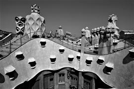 Architecture art,City art,Travel art,photography,La Pedrera, Barcelona