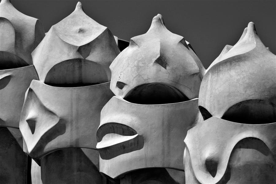 "Original art for sale at UGallery.com   Gaudi ""Sentinels"" by Mathew Lodge   $450   photography   36' h x 24' w   ..\art\photography-Gaudi-Sentinels"