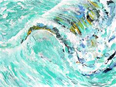 Abstract art,Seascape art,acrylic painting,Playful Wave