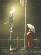 People art,Surrealism art,digital printmaking,Under the Rain