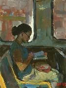 people art,city art,oil painting,Reading #64