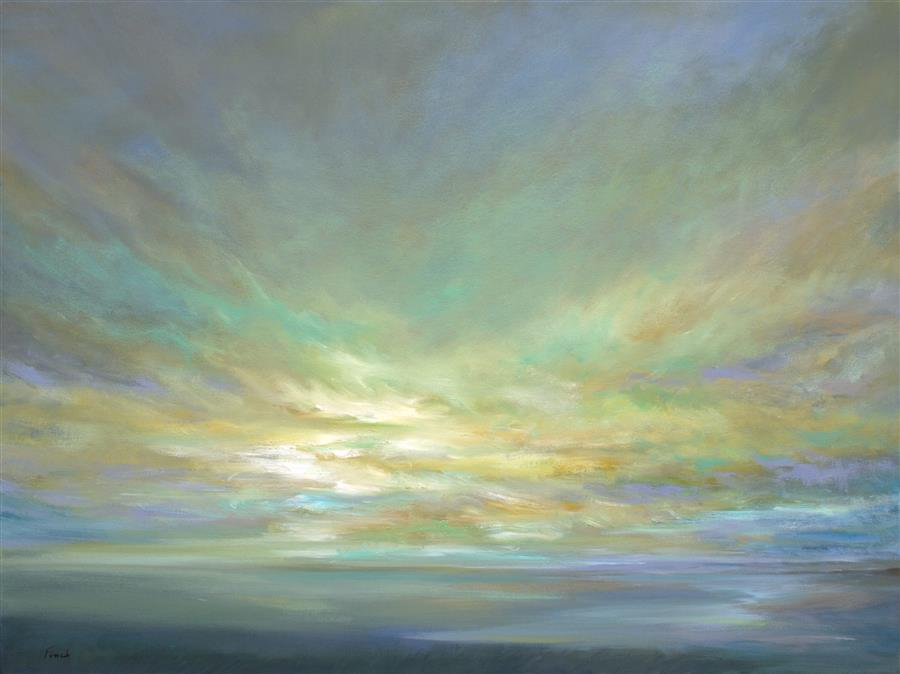Original art for sale at UGallery.com | Coastal Clouds XVI by SHEILA FINCH | $4,500 |  | 30' h x 40' w | ..\art\oil-painting-Coastal-Clouds-XVI