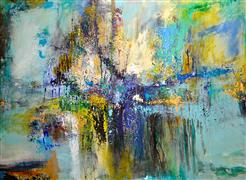 abstract art,expressionism art,acrylic painting,Urban Blues