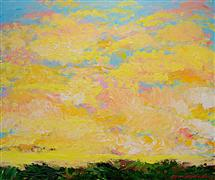 impressionism art,landscape art,acrylic painting,Too Late Now