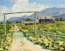 impressionism art,landscape art,western art,oil painting,Olden Times