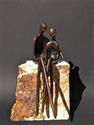 people art,sculpture,The Two of Us (Leather Brown)