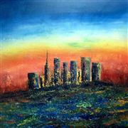buildings art,landscape art,city art,oil painting,La Boheme