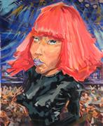 people art,pop culture art,acrylic painting,Nicki