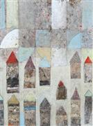 Abstract art,Architecture art,mixed media artwork,Stadt