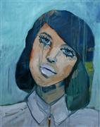 Expressionism art,People art,oil painting,Jeanette, Freshman Year