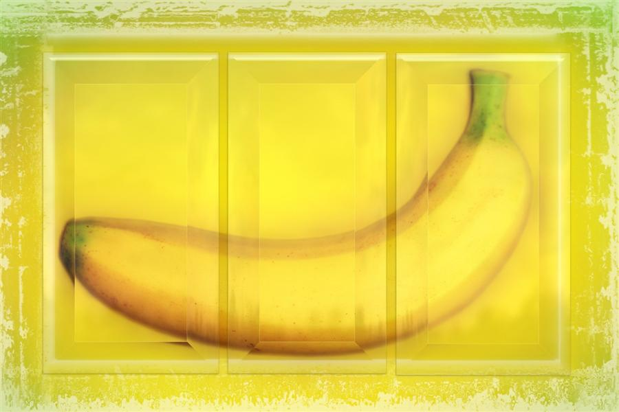 Original art for sale at UGallery.com | Banana Triptych by ART GRAFTS | $1,200 |  | 22' h x 32' w | ..\art\printmaking-digital-Banana-Triptych