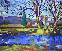 impressionism art,landscape art,acrylic painting,Branching Out