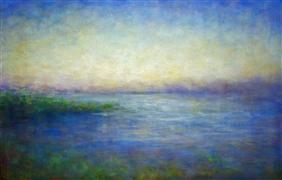 Impressionism art,Nature art,Seascape art,oil painting,Along the Coast