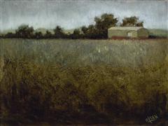 Architecture art,Impressionism art,Landscape art,oil painting,Somewhere in Idaho