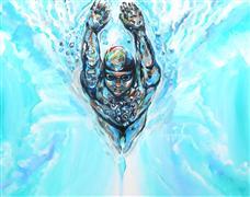 People art,Seascape art,Surrealism art,acrylic painting,Racer