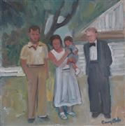 People art,oil painting,Three Generations