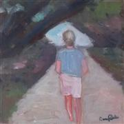 people art,oil painting,Walking to the Beach