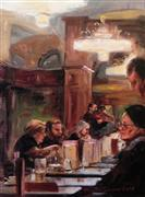 buildings art,impressionism art,people art,city art,oil painting,Cafe Schwarzenberg II