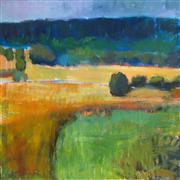 Impressionism art,Landscape art,Nature art,acrylic painting,Valley and Fields, Pennsylvania