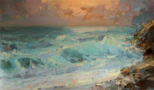 Impressionism art,Nature art,Seascape art,oil painting,After a Storm