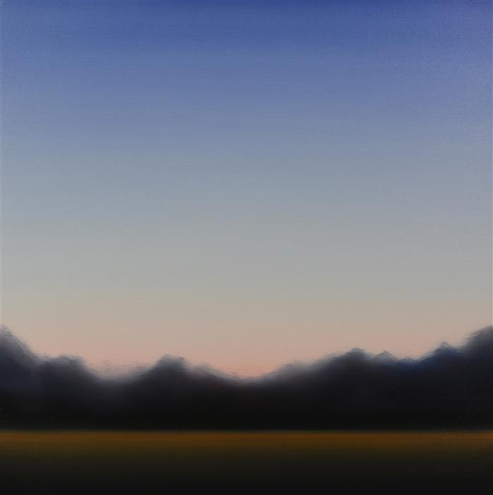 Original art for sale at UGallery.com | Clearing 460 by John Diehl | $1,800 | oil painting | 35' h x 35' w | ..\art\oil-painting-Clearing-460