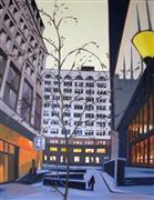 Architecture art,Landscape art,City art,oil painting,Cold Alley