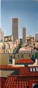 Architecture art,City art,oil painting,Studio Heights View