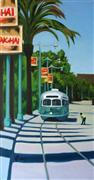 Landscape art,Vroom Vroom! art,City art,oil painting,F Market