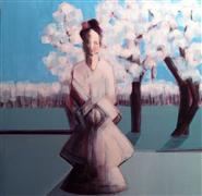 people art,surrealism art,acrylic painting,Cherry Blossom