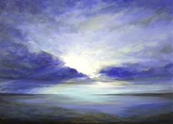 Landscape art,Nature art,Seascape art,acrylic painting,South Bay Sky
