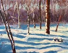 landscape art,nature art,oil painting,Winter Wonder of Woods