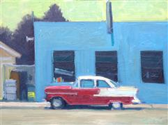 landscape art,vroom vroom! art,oil painting,Pit Stop